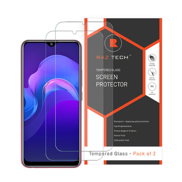 Tempered  Glass Screen Protector for Vivo Y12 (Pack of 2)