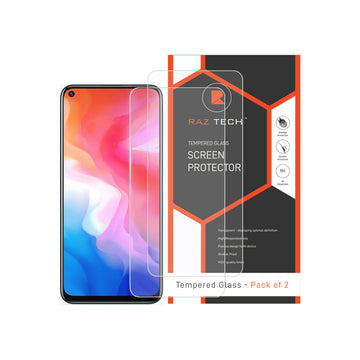 Tempered  Glass Screen Protector for Vivo Y30 (Pack of 2)
