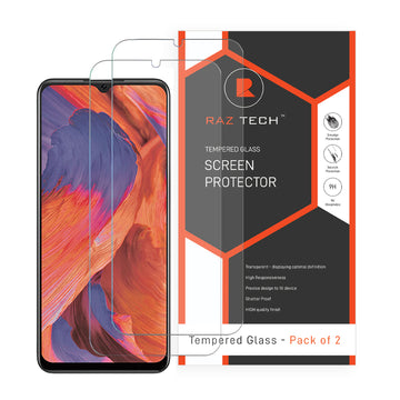 Tempered  Glass Screen Protector for Oppo A73 (Pack of 2)