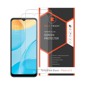 Tempered  Glass Screen Protector for Oppo A15 (Pack of 2)