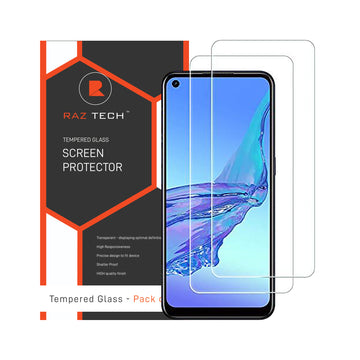 Tempered  Glass Screen Protector for Oppo A53S (Pack of 2)