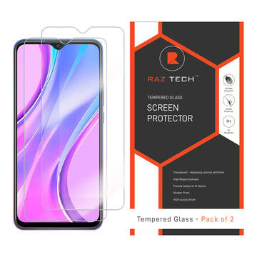Tempered  Glass Screen Protector for Xiaomi Redmi 9 (Pack of 2)