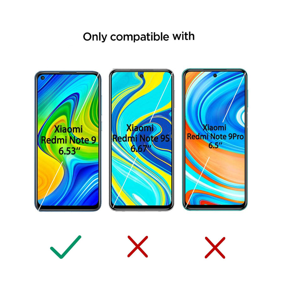 Tempered Glass  for Xiaomi Redmi Note 9 (Pack of 2)
