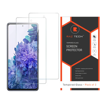 Tempered Glass Screen Protector for Huawei Y5p (Pack of 2)