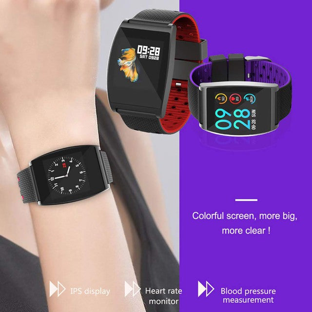 Smart Watch Heart Rate Monitor Tracker Fitness Sports Watch - Purple