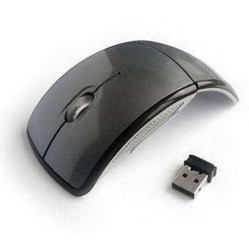 Arc Wireless Mouse for Laptop and PC - Black - by Raz Tech