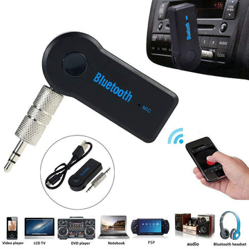 Rechargeable Car Bluetooth 3.0 Hands Free Audio Receiver with Handsfree Function Mic