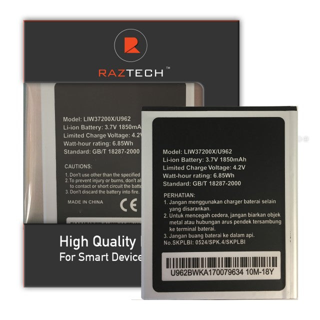 Replacement battery for Hisense U962 Smartphone