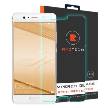 Tempered Glass Screen Protector for Huawei P10 Plus - Curved, Extra Strength Glass - by Raz Tech
