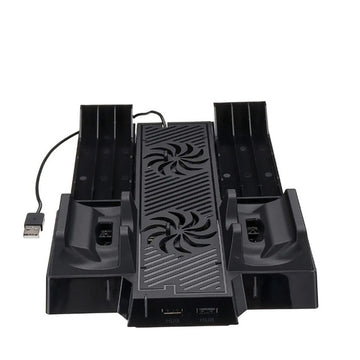 MultiFunctional Stand with Cooling Fan and Charging Dock for Xbox One X