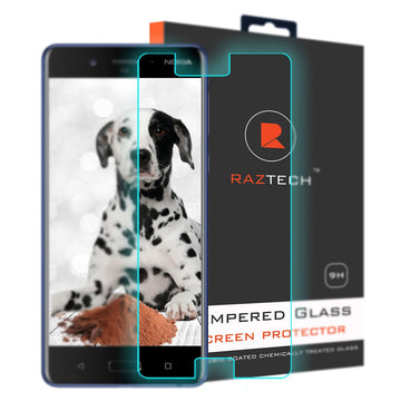 Tempered Glass Screen Protector for Nokia 8 - Extra Strength Glass - by Raz Tech