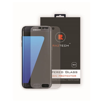 Plastic Screen Protector for Samsung Galaxy S7 Edge - Covers Front and Curves by Raz Tech