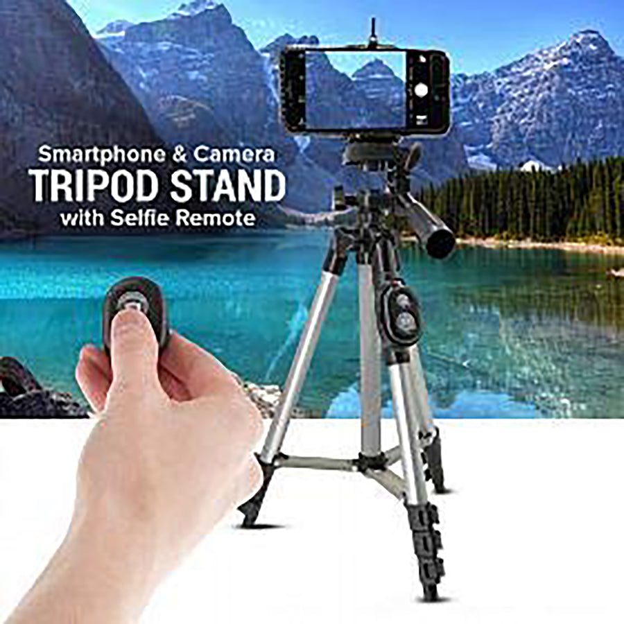 Foldable Camera Tripod With Mobile Clip Holder Bracket