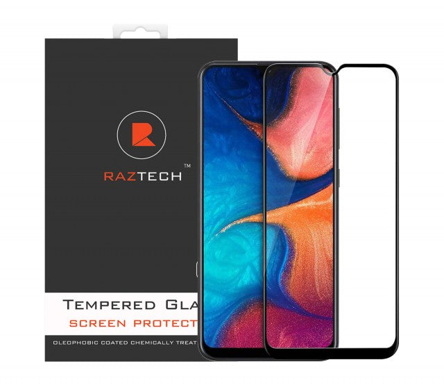 Full Cover Tempered Glass for Samsung Galaxy A20 SM-A205F - by RazTech
