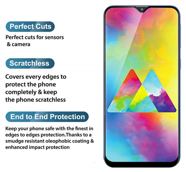 Raz Tech Full Cover Tempered Glass for Samsung Galaxy M20 SM-M205F