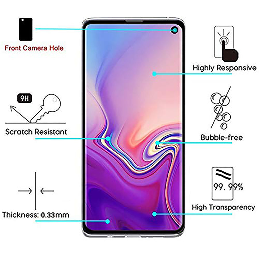 Raz Tech Full Cover Tempered Glass for Samsung Galaxy S10E  SM-G970F