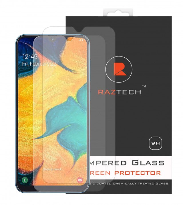 Raz Tech Tempered Glass for Samsung Galaxy A20 SM-A205F (Pack of 2)