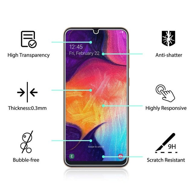 Tempered Glass for Samsung Galaxy A50 SM-A505F (Pack of 2)