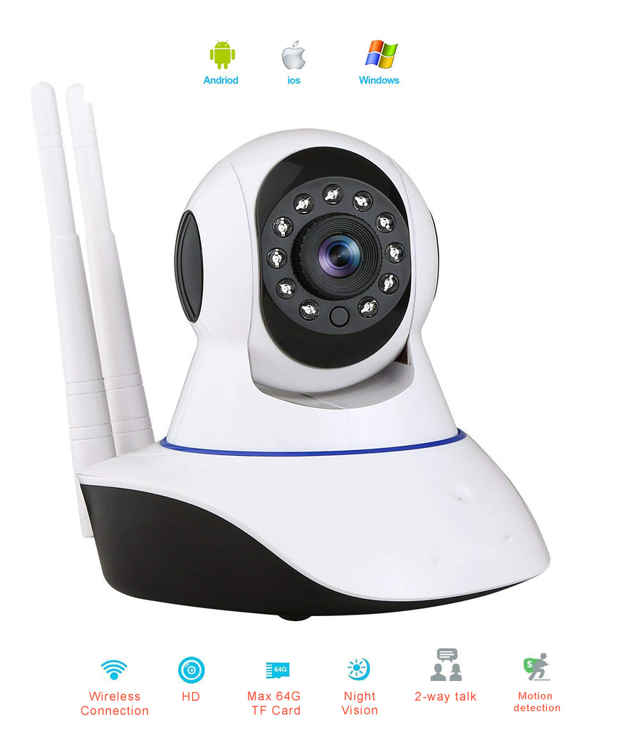 Dual Antenna P2P Wireless 720P P/T IP Camera Cam Network Camera
