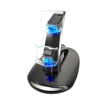 Dual USB Charging Dock Stand for PlayStation 4 Controllers - by Raz Tech