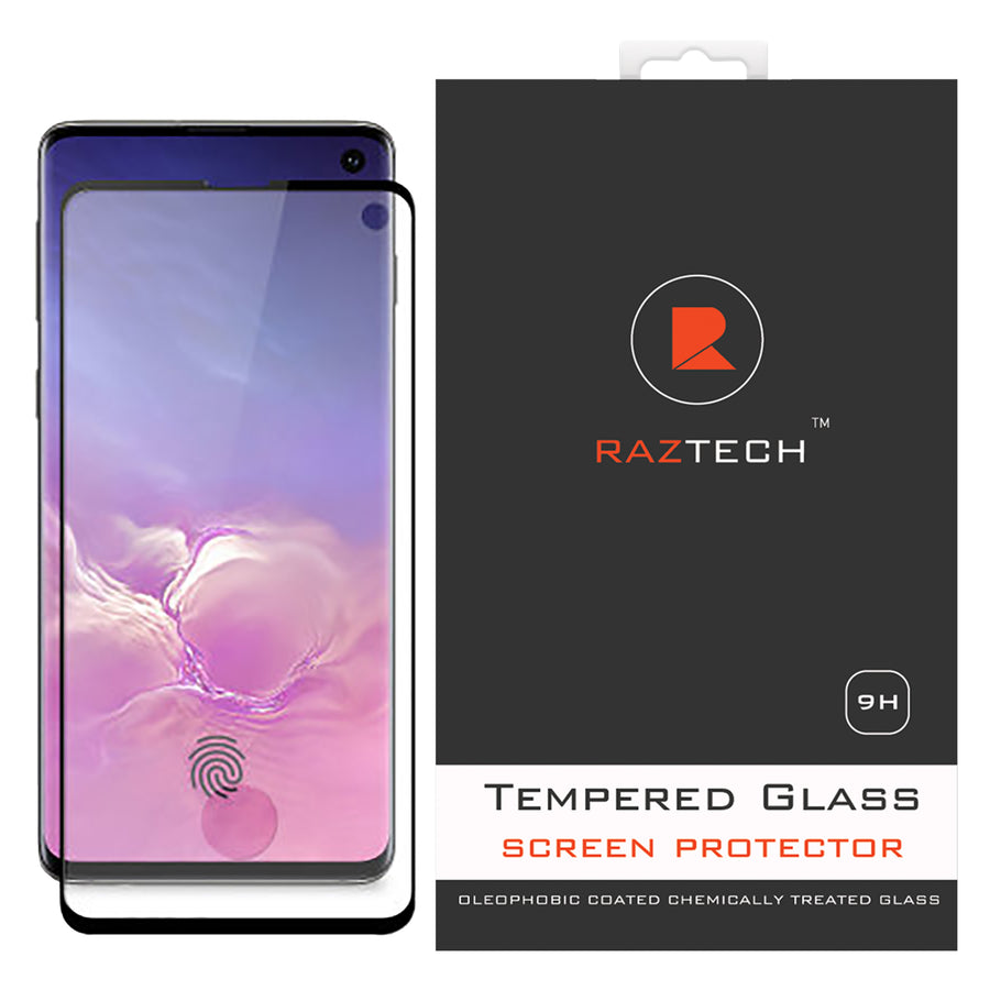 Full Cover Tempered Glass for Samsung Galaxy S10  SM-G973F - by Raz Tech