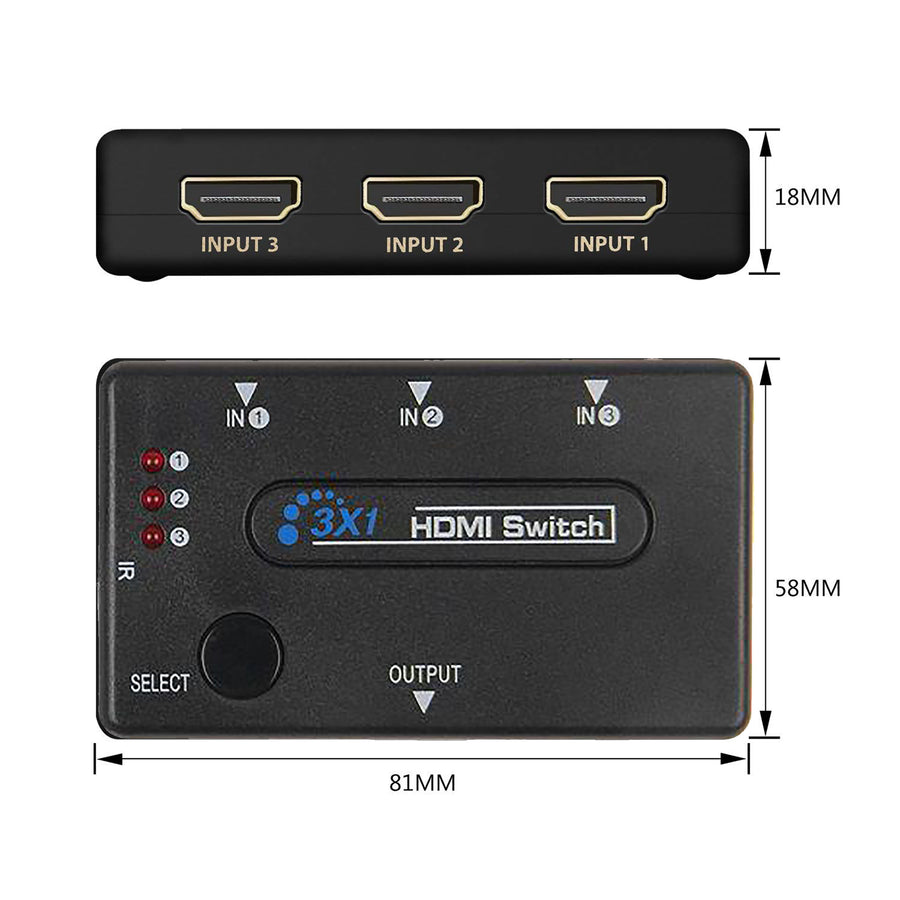 HDMI Switcher 3x1 Slots