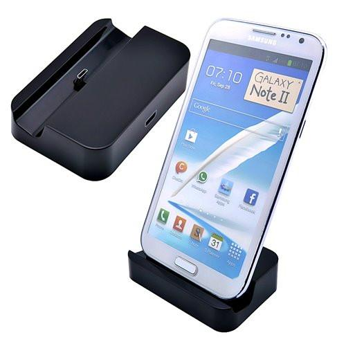 Charge and Sync Dock Stand for Micro USB and Samsung Smartphones - Black - by Raz Tech