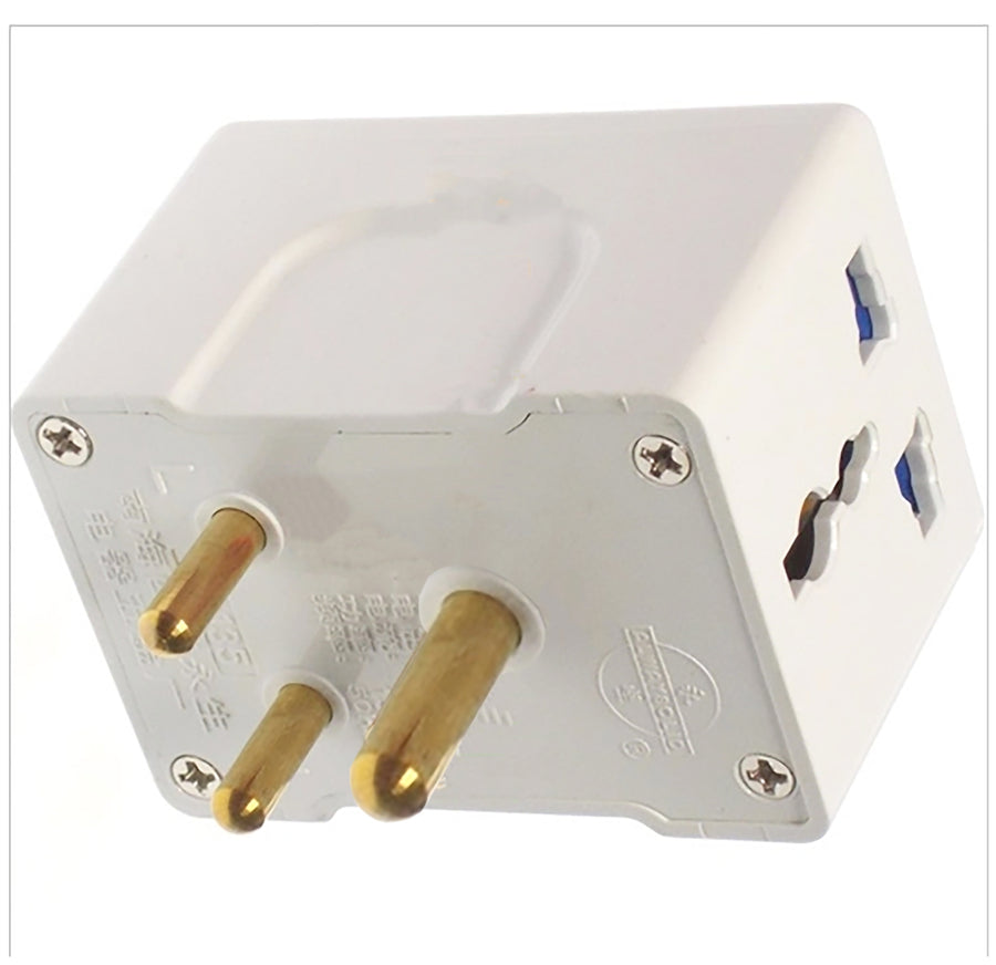 Multiple Outlet Universal AC Adapter Wall Plug for South Africa (Type M)