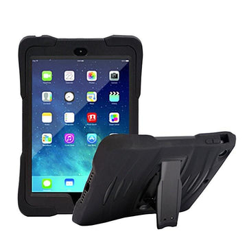 Rugged Stand Protective Case with Stand and Built in Screen Protector for Apple iPad Mini 1/2/3- by Raz Tech