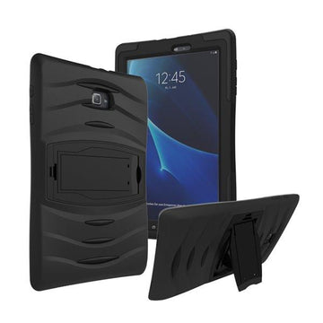 Rugged Stand Protective Case with Stand and Built in Screen Protector for Samsung Galaxy Tab A 10.1
