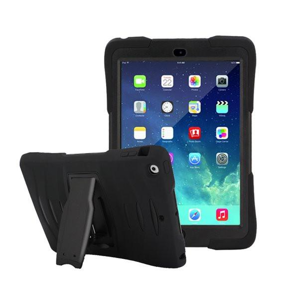 Rugged Stand Protective Case with Stand and Built in Screen Protector for Apple iPad Air / iPad 5- by Raz Tech