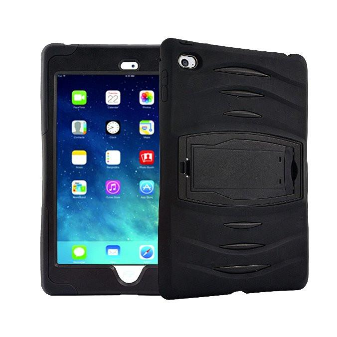 Rugged Stand Protective Case with Stand and Built in Screen Protector for Apple iPad Mini 4 - by Raz Tech
