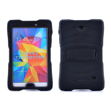 Rugged Stand Protective Case with Stand and Built in Screen Protector for Samsung Galaxy Tab 4 8