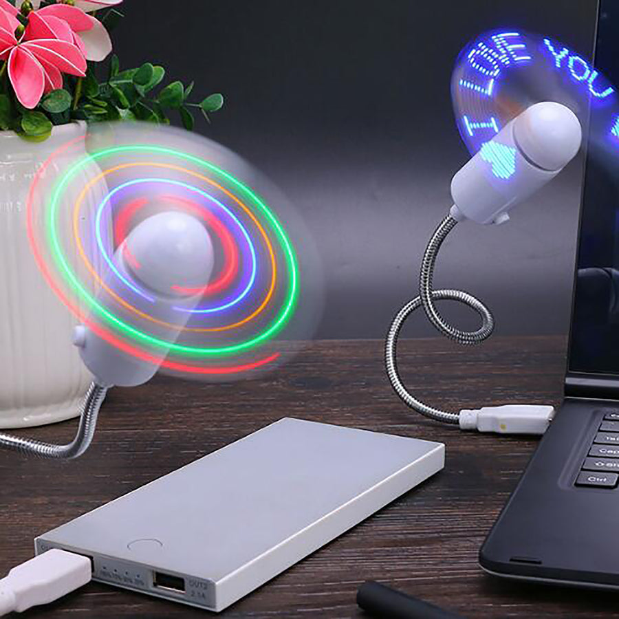 USB PC input message LED fan with data line (red light)