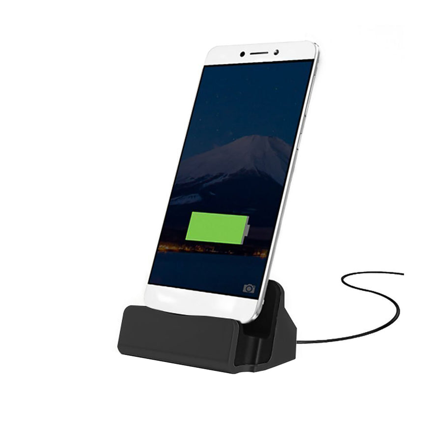 Charge and Sync Dock Stand for Micro USB and Samsung Smartphones - Black