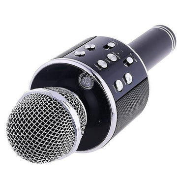 Wireless Karaoke Microphone Hifi Speaker WS-858 - Black - by Raz Tech
