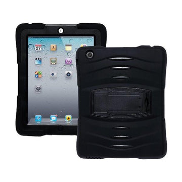 Rugged Stand Protective Case with Stand and Built in Screen Protector for Apple iPad 2/3/4 - by Raz Tech
