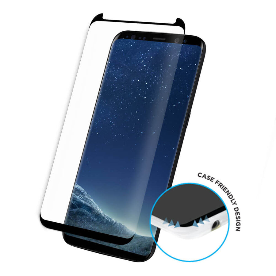 Samsung Galaxy S8 Tempered Glass Screen Protector - Curved, Extra Strength Glass