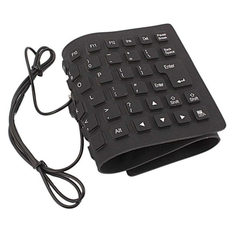 Wired USB Flexible Keyboard for Laptop Notebook and Desktop Computers