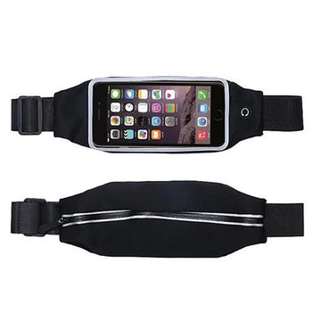 Sport Waist Belt for Smartphones - Black - By Raz Tech