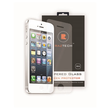 Tempered Glass Screen Protector for Apple iPhone 5SE by Raz Tech