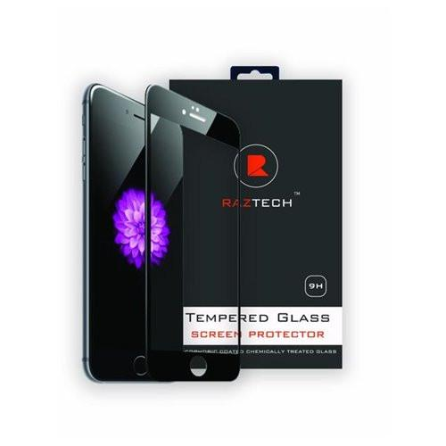 Tempered Glass Screen Protector for iPhone 6 and 6S - Curved, Extra Strength Glass - by Raz Tech