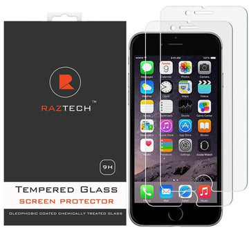 Apple iPhone 8 & 7 & 6S - Tempered Glass for - 2.5D x2 (Pack of 2)