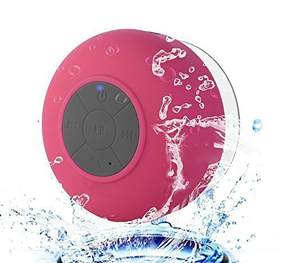Waterproof Bluetooth Mini Speaker With Mic - Pink