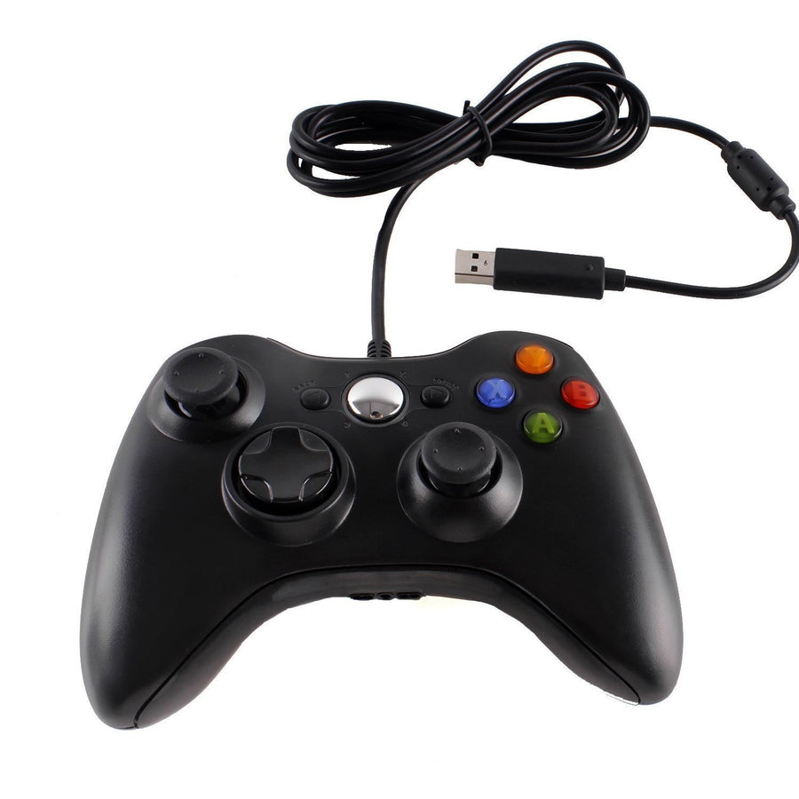 Generic Controller For Microsoft Xbox 360 / 360 Live / 360 Slim-Wired - Black - by Raz Tech