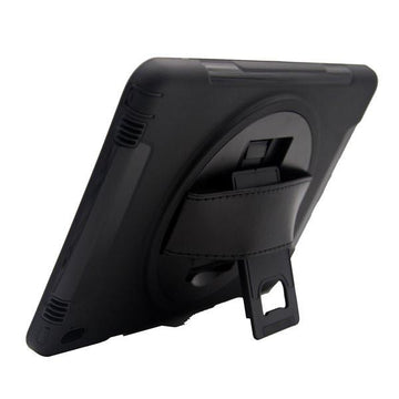Rugged Holder Protective Case with Handle, Stand and Built-in Screen Protector for Samsung Galaxy Tab 3 T110 - by Raz Tech