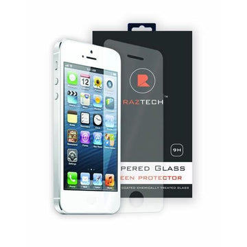 Tempered Glass Screen Protector PRO for Apple iPhone 5/5S - Extra Strength Ashai Japanese Glass - by Raz Tech