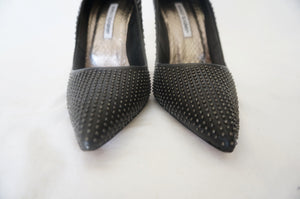 Manolo Blahnik Black Studded Pump