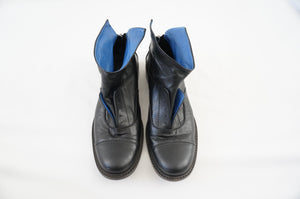 DUSICA DUSICA BLACK BLUE OXFORD BOOTIE