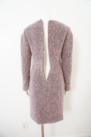 CHANEL BOUCLE ROSE PINK GRAY DRESS